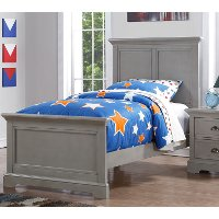 Casual Classic Gray Twin Bed - Tamarack
