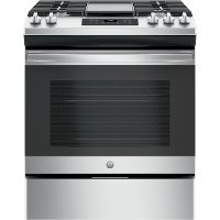 JGSS66SELSS GE 30 Inch Slide In Gas Range - 5.3 cu. ft. Stainless Steel