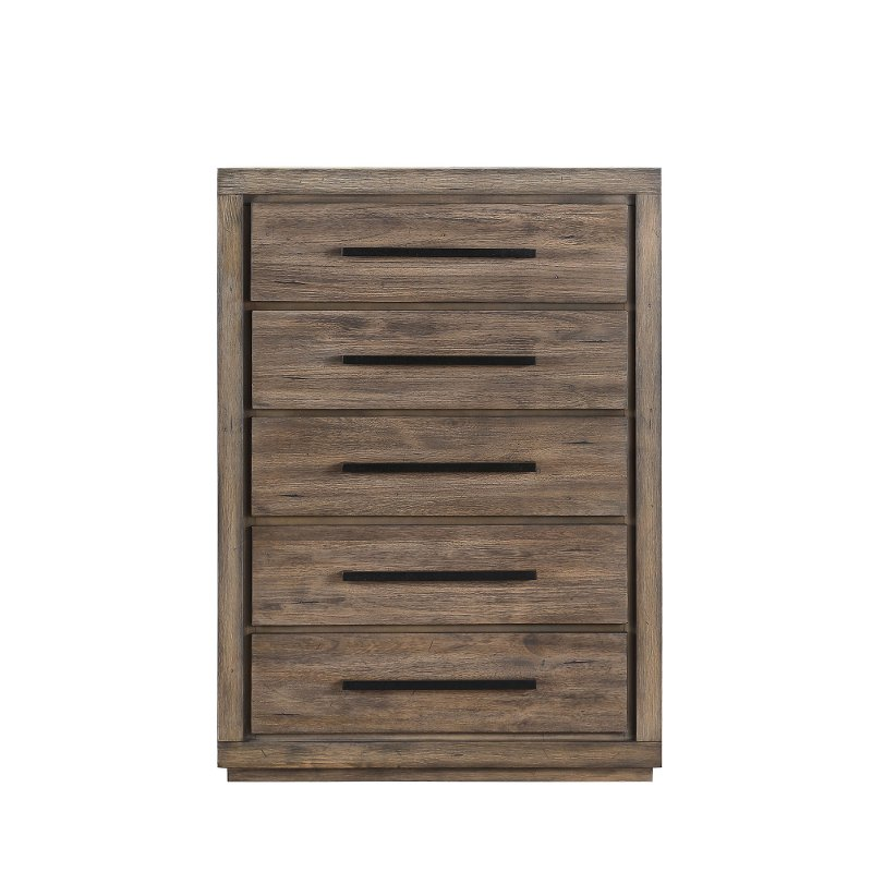 Modern Rustic Acacia Pine Chest Of Drawers Haven