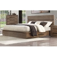 Modern Rustic Pine Queen Platform Bed - Haven