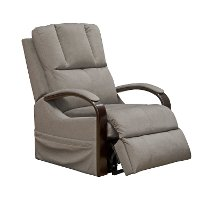 Aluminum Gray Power Reclining Lift Chair - Chandler