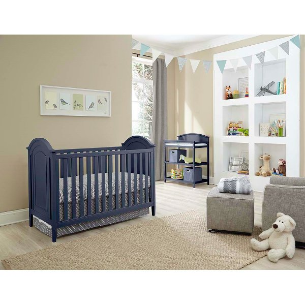 Kit Clic Navy Blue 3 In 1 Crib And Changer Set Chatham