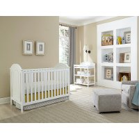 KIT Classic White 3-In-1 Crib and Changer Set - Chatham