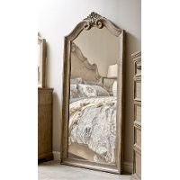 Traditional Country Natural Floor Mirror - Monterey