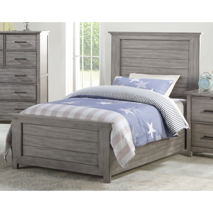 Cottage Gray Full Size Bed - Edgewood