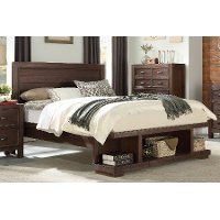 Contemporary Cherry Full Platform Bed - Tremaine