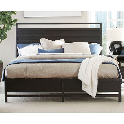 Charmant Modern Black Queen Platform Bed   Thomas