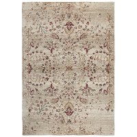 5 x 8 Medium Ivory, Gold and Red Area Rug - Gossamer