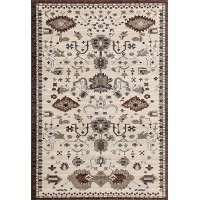 5 x 8 Medium Brown and Beige Area Rug - Arabella