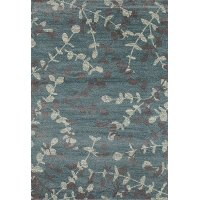 8 x 11 Large Ivory and Blue Rug - Milan