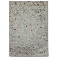 5 x 8 Medium Cream and Blush Pink Area Rug - Paris