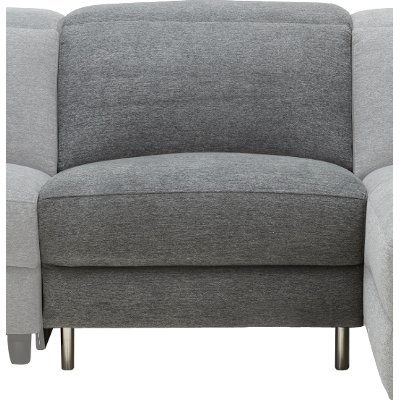 Charcoal Gray Armless Chair 1/2 - Royals