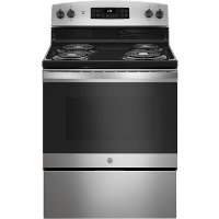 JB256RMSS GE 30 Inch Free Standing Electric Range - 5.0 cu. ft. Stainless Steel
