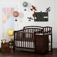 Classic Espresso 4-in-1 Mini Crib and Changing Table - Casco