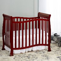 Classic Cherry 4-in-1 Convertible Mini Crib - Piper