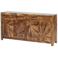 Natural Mango Wood Dining Room Sideboard - Cayley