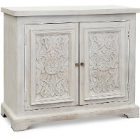 White Wash Accent Cabinet - Lorna