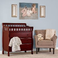 Classic Cherry Changing Table & Dresser - Marcus