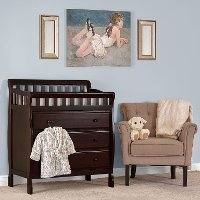 Classic Espresso Changing Table & Dresser - Marcus