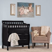 Classic Black Changing Table & Dresser - Marcus