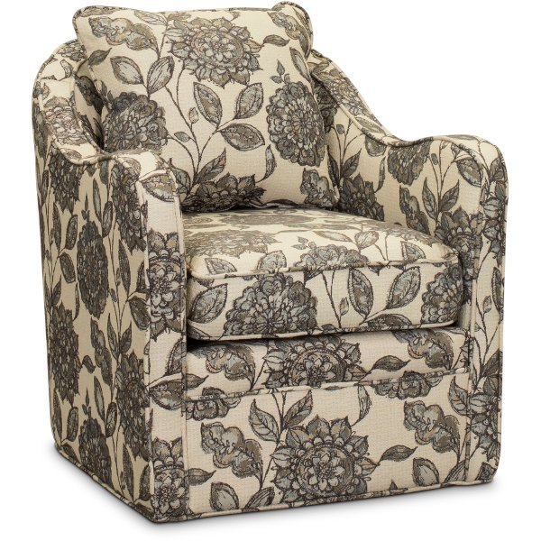 ... Multi Color Wide Seat Swivel Accent Chair   Brianne ...