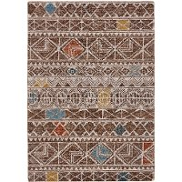 8 x 11 Large Brown and Multi-Colored Area Rug - Turvey