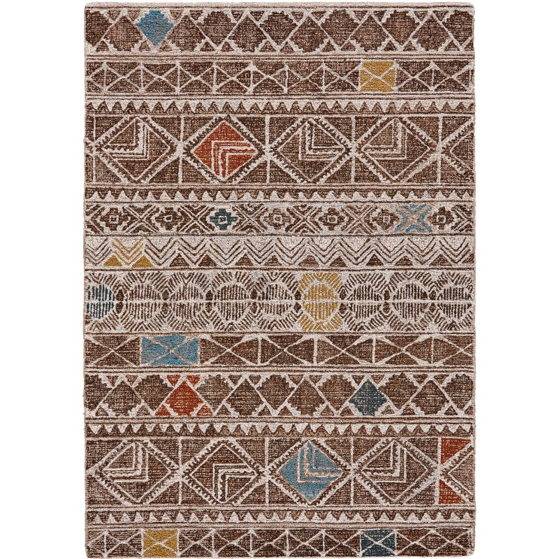 8 X 11 Large Brown And Multi Colored Area Rug Turvey