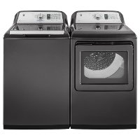 KIT GE Top Load Washer and Dryer Laundry Set - Gray Electric