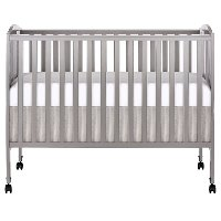 Classic Steel Gray Folding Full Size Convenience Crib