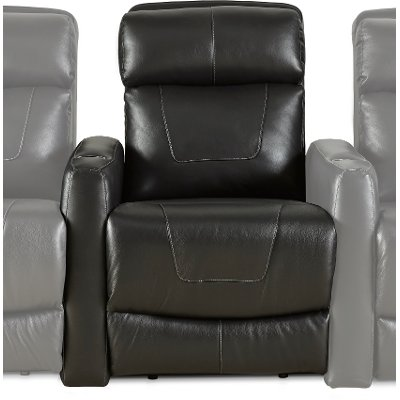 Black Left-arm Facing Power Recliner with Brackets - Premier