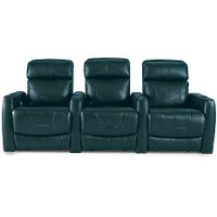 Turquoise Blue 3 Piece Power Reclining Theater Seating - Premier