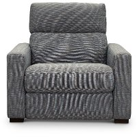 Navy Blue Power Recliner Chair and a Half with Adjustable Headrest - Angler