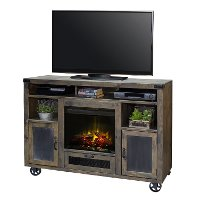 Rustic Barnwood 62 Inch Fireplace TV Stand - Cargo