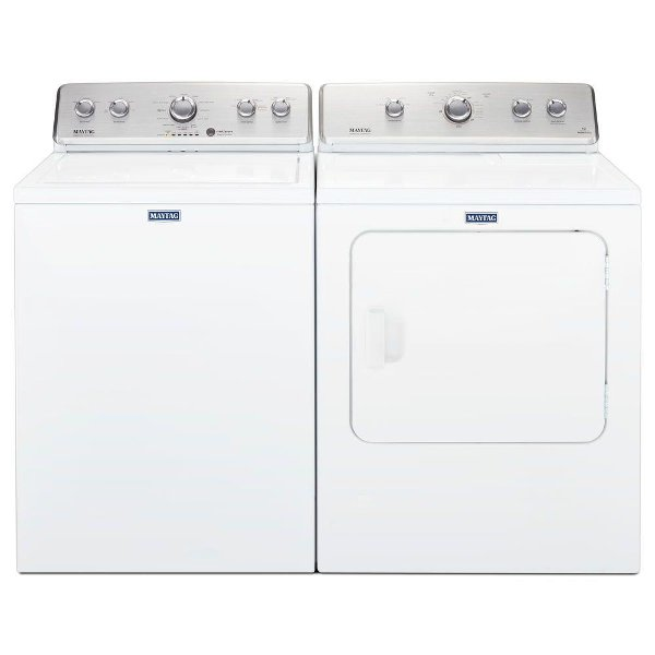 Kit Maytag Top Load Washer And Dryer Laundry Set White Electric