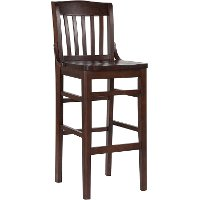 Walnut Wood 29 Inch Restaurant Bar Stool - Schoolhouse