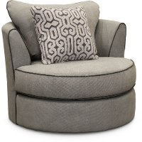 Contemporary Cement Gray Curved Chair - Rumbler