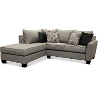 Contemporary Cement Gray 2 Piece Sectional - Rumbler