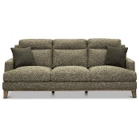 Contemporary Charcoal Gray and Cream Sofa - Irvine