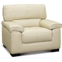 C827-CA Contemporary Smoke White Leather Chair - Sienna