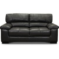 C827-DA Contemporary Dark Gray Leather Loveseat - Sienna
