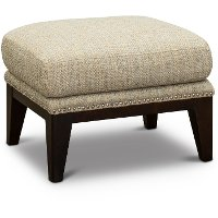 Classic Modern Tan and Gray Accent Ottoman - Luxe