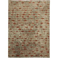 8 x 11 Large Ginger, Brown, and Ivory Area Rug - Metropolitan