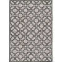 8 x 11 Large Gray Indoor-Outdoor Rug - Boucle