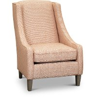 Transitional Coral Club Accent Chair - Janice