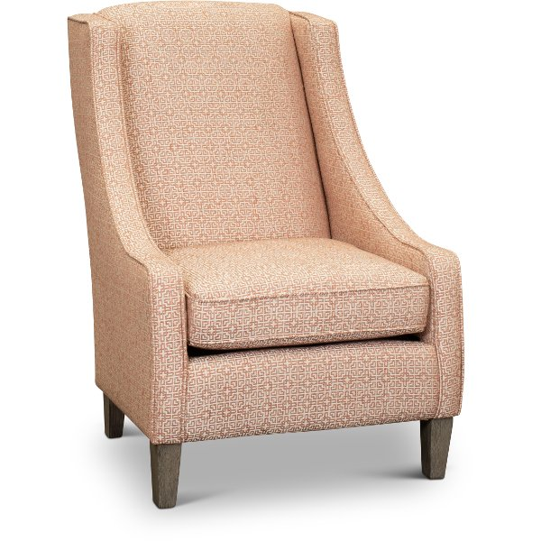 Merveilleux ... Transitional Coral Club Accent Chair   Janice