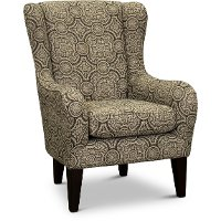 Blue Ink Wingback Accent Chair - Lorette