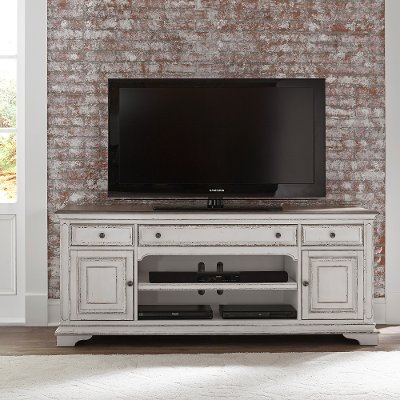 Antique White 70 Inch TV Stand - Magnolia Manor
