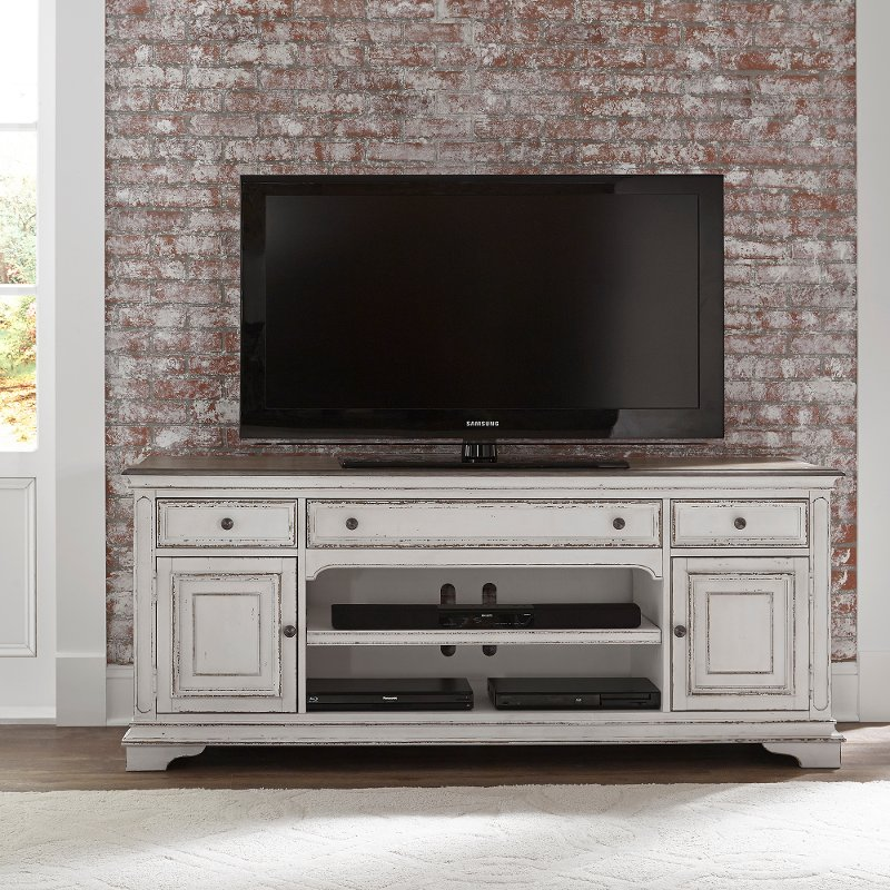 Antique White 70 Inch Tv Stand Magnolia Manor
