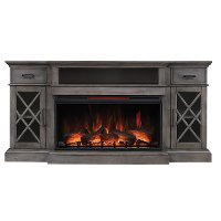 70 Inch Weathered Gray Fireplace TV Stand - Hamilton