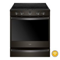 WEE750H0HV Whirlpool 6.4 Cu. Ft. Smart Slide-in Electric Range with Frozen Bake Technology - Black Stainless Steel